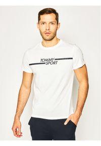 Tommy Sport T-Shirt Core Chest Graphic S20S200444 Biały Regular Fit. Kolor: biały. Styl: sportowy