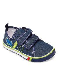 UNDERLINE - Trampki dziecięce Underline 66A19115 Granatowe. Zapięcie: rzepy. Kolor: niebieski. Materiał: guma, tkanina, skóra #3