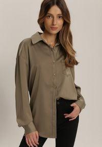 Renee - Ciemnozielona Koszula Orirose. Kolor: zielony