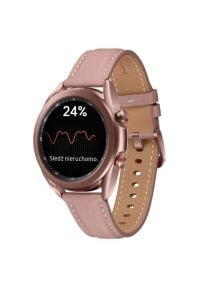 Smartwatch SAMSUNG Galaxy Watch 3 SM-R855N 41mm LTE Miedziany. Rodzaj zegarka: smartwatch. Kolor: brązowy. Materiał: skóra. Styl: elegancki