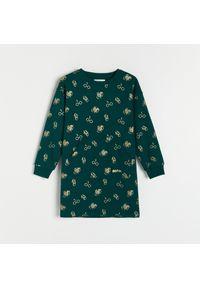 Reserved - Dzianinowa sukienka Harry Potter - Khaki. Kolor: brązowy. Materiał: dzianina