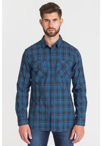 Niebieska koszula Armani Exchange na lato, na co dzień, biznesowa