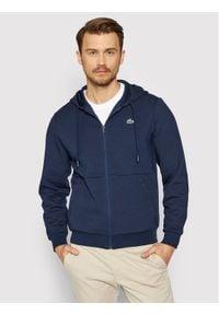 Lacoste Bluza SH9676 Granatowy Regular Fit. Kolor: niebieski