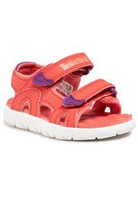 Czerwone sandały Timberland
