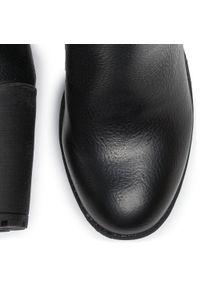 Czarne botki Refresh na średnim obcasie, na obcasie