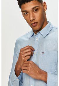 Niebieska koszula Tommy Jeans na co dzień, długa