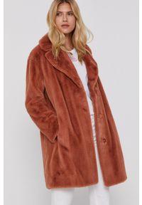 TwinSet - Twinset - Płaszcz. Kolor: brązowy. Styl: klasyczny