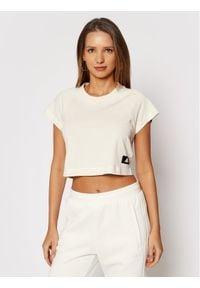Adidas - adidas T-Shirt Sportswear GL0346 Beżowy Regular Fit. Kolor: beżowy