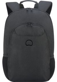 Czarny plecak na laptopa Delsey