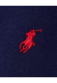 Niebieska bluza z kapturem Ralph Lauren z haftami, sportowa