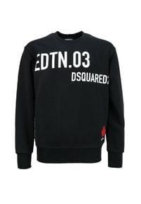 DSQUARED2 KIDS - Czarna bluza z bawełny 4-16 lat. Okazja: na co dzień. Kolor: czarny. Materiał: bawełna. Długość rękawa: długi rękaw. Długość: długie. Wzór: nadruk. Sezon: lato. Styl: klasyczny, casual