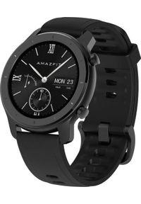 AMAZFIT - Smartwatch Amazfit GTR 42mm Czarny (A1910BK). Rodzaj zegarka: smartwatch. Kolor: czarny