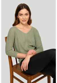 Greenpoint - Elegancki sweter z połyskiem. Styl: elegancki