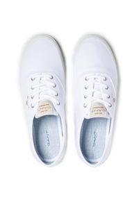 Tenisówki GANT - Preptown 22538613 Bright White G290. Okazja: na co dzień. Kolor: biały. Materiał: materiał. Szerokość cholewki: normalna. Styl: casual