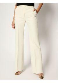 Beżowe spodnie materiałowe Victoria Victoria Beckham