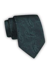 Chattier - Krawat Męski, Ciemnozielony, Butelkowy Klasyczny, Szeroki 8 cm, Elegancki -CHATTIER. Kolor: zielony. Materiał: tkanina. Wzór: kwiaty. Styl: klasyczny, elegancki
