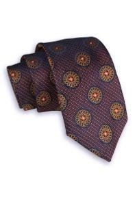 Niebieski krawat Alties klasyczny, w geometryczne wzory