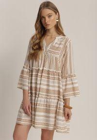 Renee - Beżowa Sukienka Kaliphelia. Kolor: beżowy