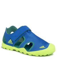 Niebieskie sandały Adidas na lato