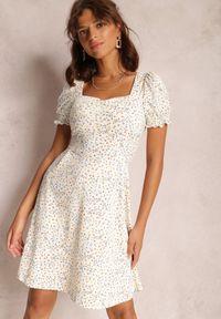 Renee - Kremowa Sukienka Amaell. Kolor: beżowy