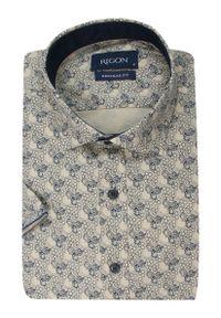 Elegancka koszula Rigon z krótkim rękawem, na spotkanie biznesowe, krótka