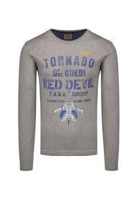 Aeronautica Militare - T-shirt z długim rękawem AERONAUTICA MILITARE. Materiał: bawełna, dresówka, tkanina. Długość rękawa: długi rękaw. Długość: długie. Wzór: moro, nadruk. Styl: sportowy, militarny
