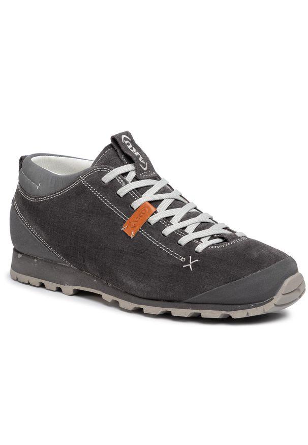 Szare buty trekkingowe Aku z cholewką, trekkingowe