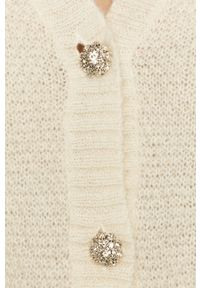 Biały sweter rozpinany Miss Sixty długi, klasyczny