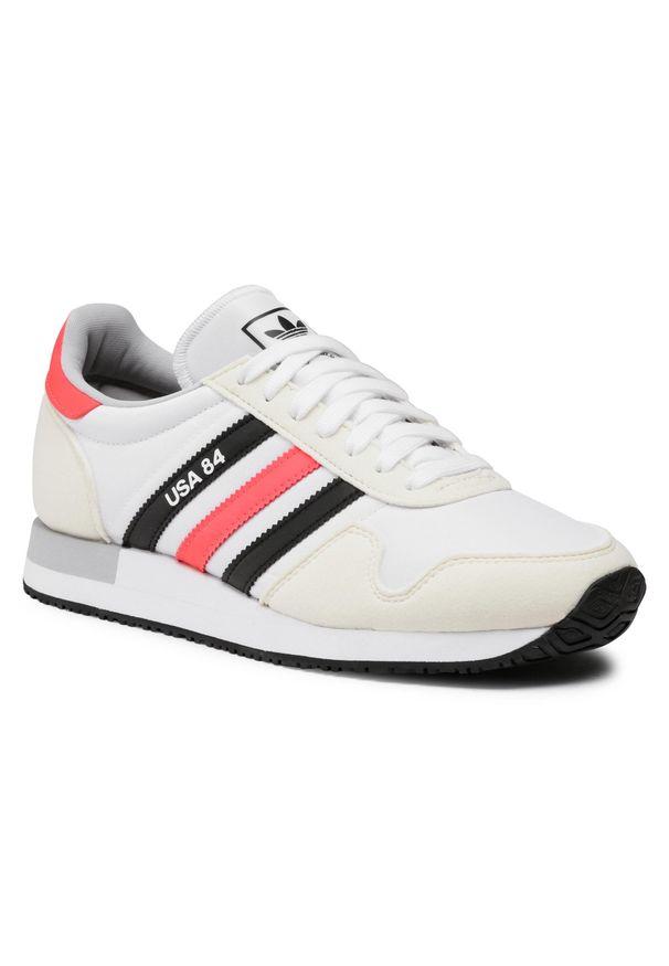 Białe półbuty Adidas z cholewką, na co dzień, casualowe