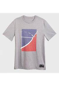 TARMAK - Koszulka DO KOSZYKÓWKI TS500 MĘSKA. Kolor: niebieski, wielokolorowy, szary. Materiał: materiał, poliester. Sport: koszykówka