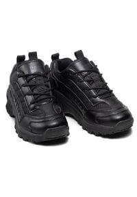 CATerpillar - Sneakersy CATERPILLAR - Intruder CK164740 Czarny. Okazja: na uczelnię, na spacer, na co dzień. Kolor: czarny. Materiał: skóra, materiał. Szerokość cholewki: normalna. Styl: casual