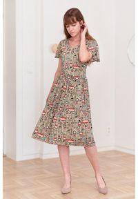Marie Zélie - Sukienka Iris Felya. Materiał: bawełna, wiskoza, jedwab, materiał. Typ sukienki: rozkloszowane