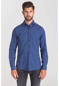 Niebieska koszula JOOP! Jeans na spotkanie biznesowe, biznesowa, na lato