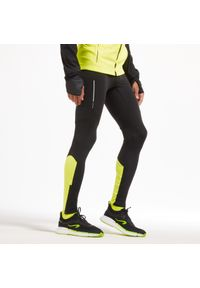 KIPRUN - Legginsy do biegania męskie Kiprun Warm ocieplane. Materiał: poliester, materiał, elastan. Sport: fitness, bieganie