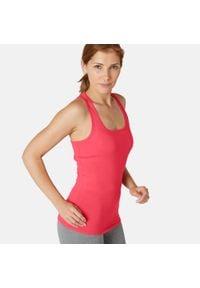 NYAMBA - Koszulka bez rękawów fitness. Kolor: różowy. Materiał: lyocell, elastan, poliester, materiał, bawełna. Długość rękawa: bez rękawów. Sport: fitness
