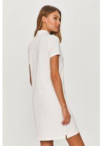 Biała sukienka Polo Ralph Lauren z krótkim rękawem, casualowa, prosta, gładkie