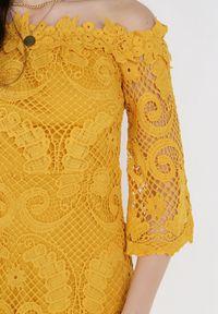 Born2be - Żółta Sukienka Ristyrtus. Kolor: żółty