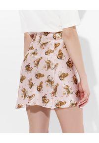 JENESEQUA - Jedwabna spódnica mini Kioto. Kolor: czarny. Materiał: jedwab. Wzór: nadruk