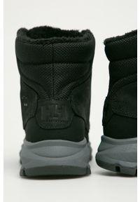 Czarne buty trekkingowe Helly Hansen na sznurówki, Primaloft, na co dzień