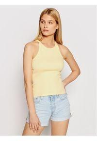 Levi's® Top High Neck 19706-0005 Żółty Slim Fit. Kolor: żółty