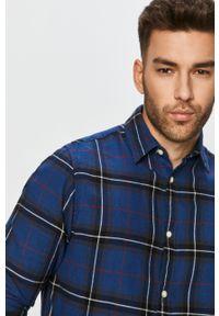 Niebieska koszula PRODUKT by Jack & Jones z klasycznym kołnierzykiem, na co dzień