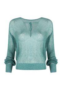 """Pinko Sweter """"Cannolicchio"""". Okazja: na co dzień. Materiał: tkanina. Długość rękawa: długi rękaw. Długość: długie. Wzór: aplikacja. Styl: casual"""