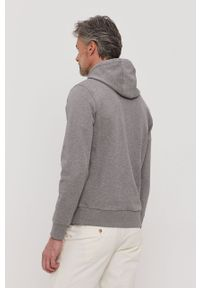 Szara bluza nierozpinana Calvin Klein z kapturem, casualowa, z nadrukiem, na co dzień