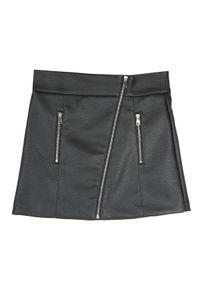 Czarna spódnica TOP SECRET w kolorowe wzory, krótka, na co dzień