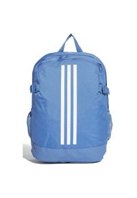 Adidas - Plecak adidas 3 Stripes Power Medium DM7684. Materiał: tkanina, poliester. Wzór: paski, ze splotem