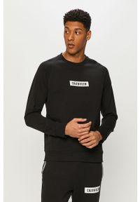 Czarna bluza nierozpinana Calvin Klein Performance na co dzień, z nadrukiem, casualowa, bez kaptura
