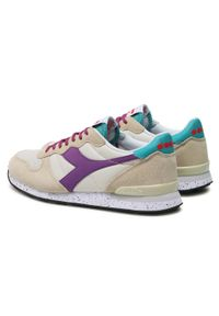 Beżowe buty sportowe Diadora outdoorowe, z cholewką