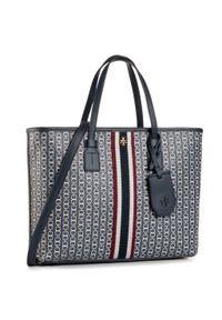 Niebieska torebka klasyczna Tory Burch klasyczna