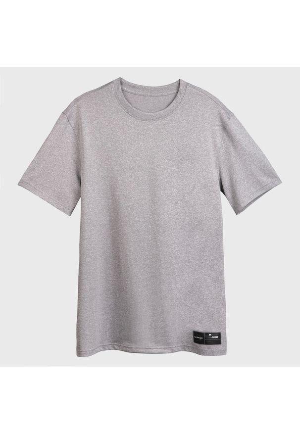 TARMAK - Koszulka koszykarska męska Tarmak TS500. Kolor: szary. Materiał: poliester, materiał. Sport: koszykówka