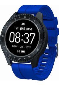 Niebieski zegarek Garett Electronics sportowy, smartwatch